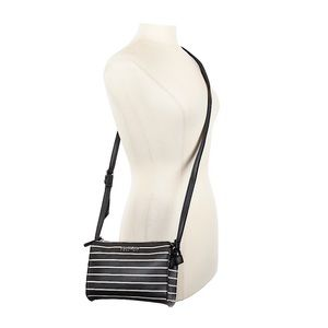 Kenneth Cole Reaction Black and White stripped Bag